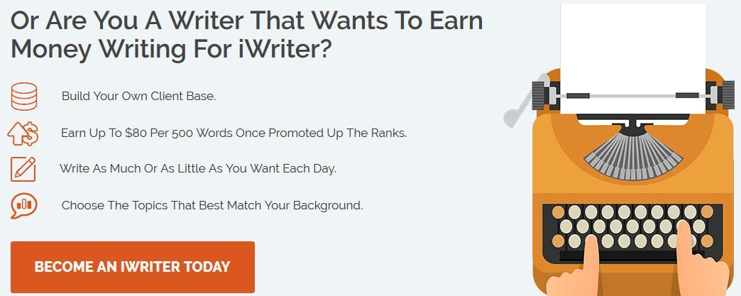 how to earn money from iwriter
