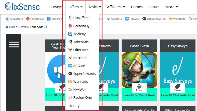 ClixSense offers
