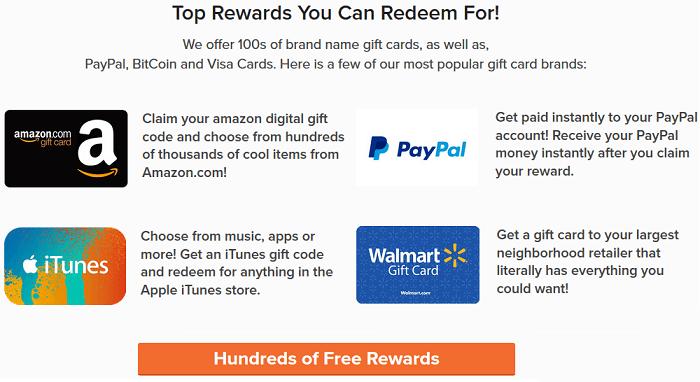 PrizeRebel rewards redemption
