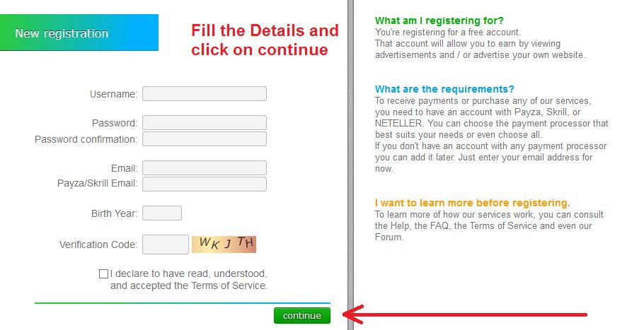 neobux registration form