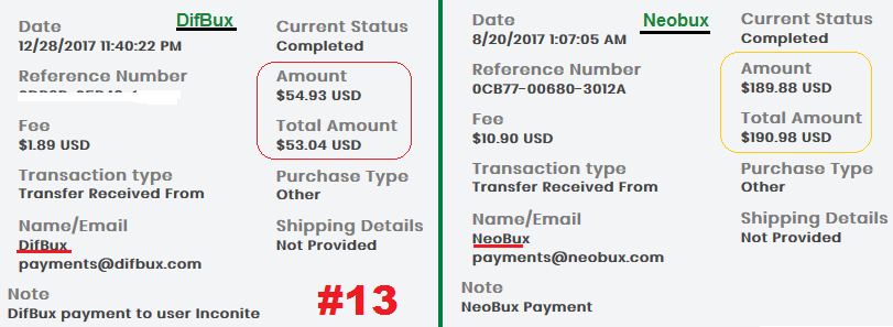 Neobux and Difbux Payment Proofs