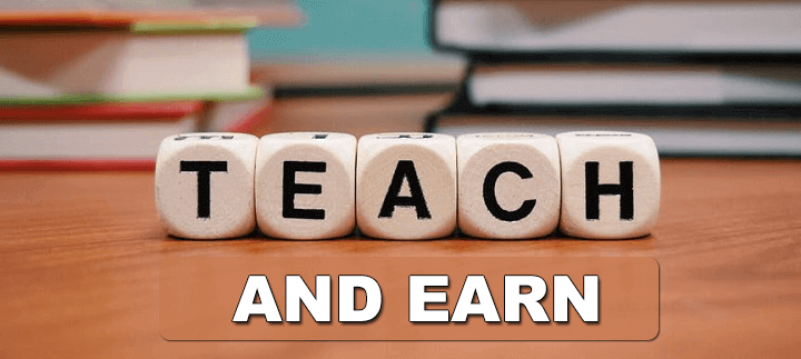 teach and earn money